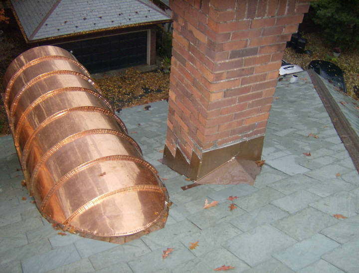 Custom copper barrel dormer standing seam roof for Barrel dormer
