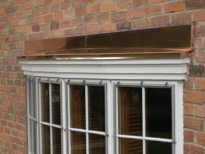 Copper Bow Window Hoods
