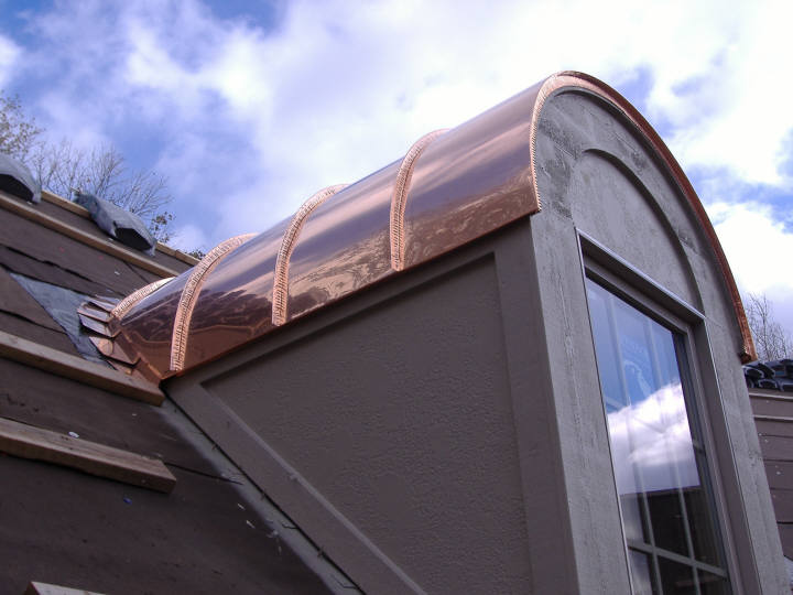 custom copper barrel dormer roofs ForBarrel Dormer