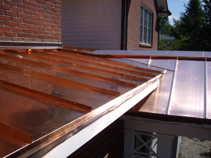 Custom Copper Standing Seam Roof Systems