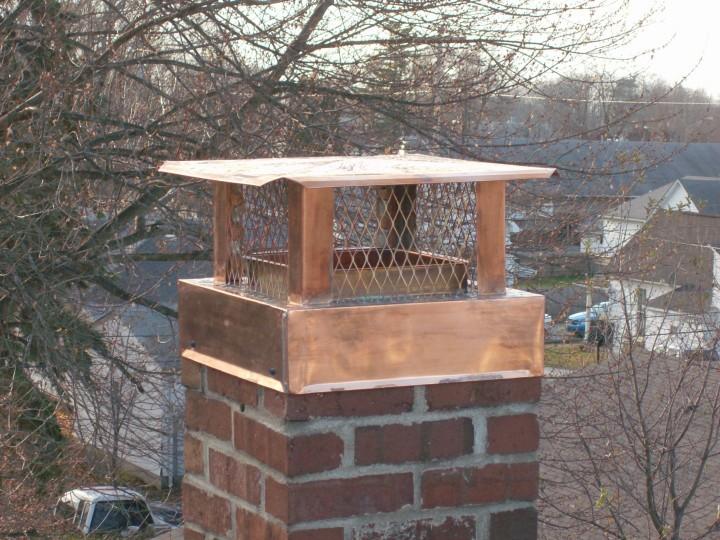 Brick Chimney Caps For Chimneys : Copper chimney caps shrouds flue cover