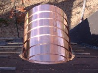 Custom copper work copper hoods copper barrel dormers for Barrel dormer