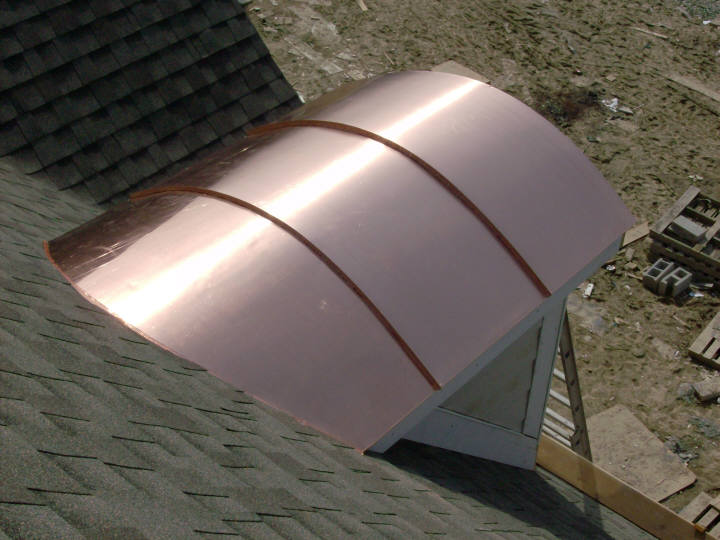 Custom Copper Barrel Dormer Roofs