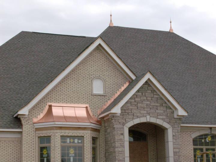 Custom Copper Roof Bay Window Hood