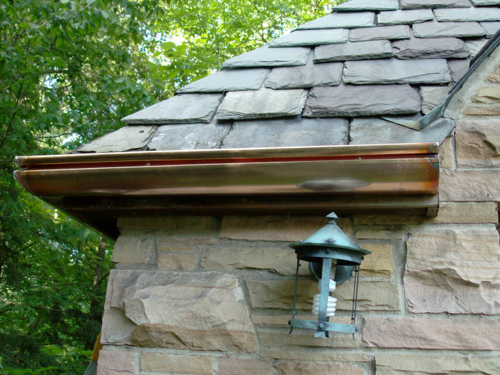 Custom Copper Gutters Near Indianapolis 6 Quot K Style
