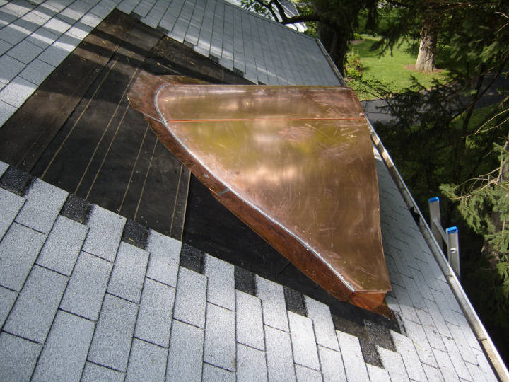 Copper Eyebrow Dormers